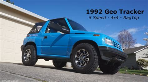 chevy tracker 1995 1992 geo tracker walk around 5 speed 4x4 rag top youtube