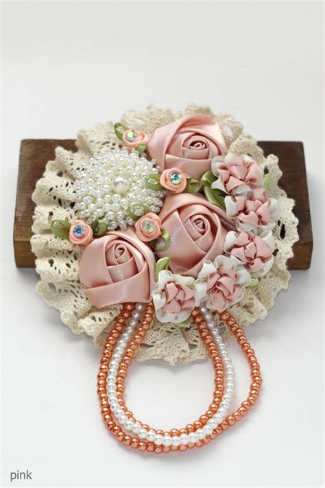 Bros Bunga Jilbab Syarii Abstract Flower Brooch bros pink bros brooches pink and