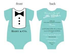baby and co tuxedo aqua baby shower invitation digital