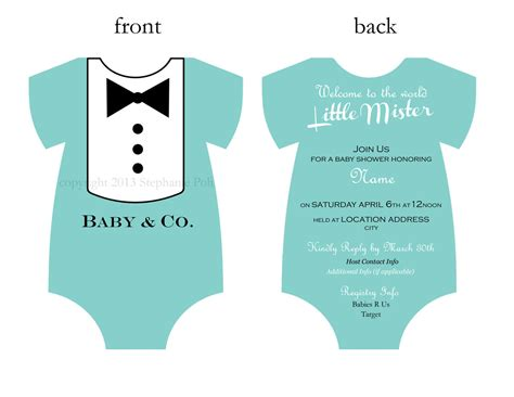printable onesies invitations baby and co tuxedo aqua baby shower invitation digital