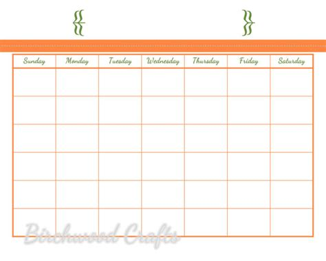 8x10 calendar template items similar to printable monthly calendar template for