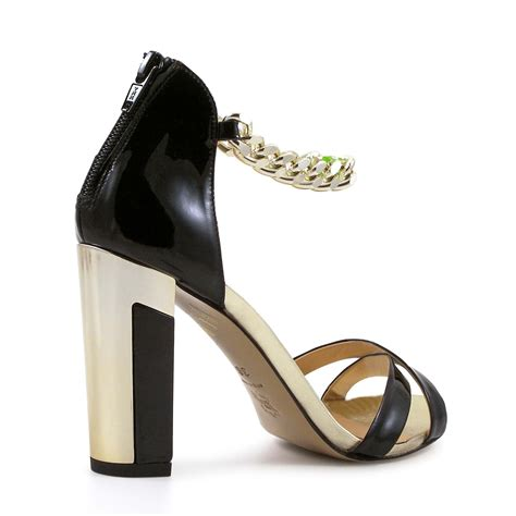 black gold shoes high heels black patent and gold high heels sandal shoes italian