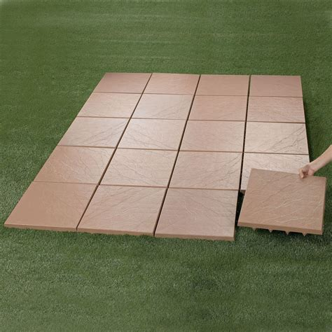Lightweight Pavers For Patio Create An Instant Patio On Any Grass Dirt Or Sand Surface Ultra Lightweight Tiles Spiked