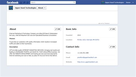 facebook business page about section how your business can use the features of the new facebook