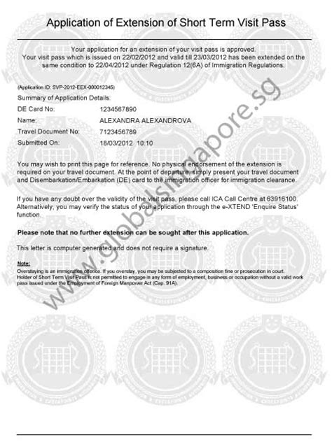 Appeal Letter Visa Rejection Singapore Extension Of Stay In Singapore Global Singapore Visa Centre Global Singapore Visa Processing