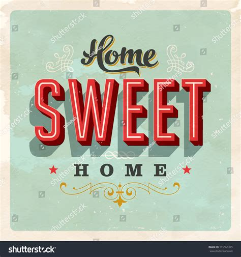 vintage home de vintage home sweet home sign vector stock vector 115565335