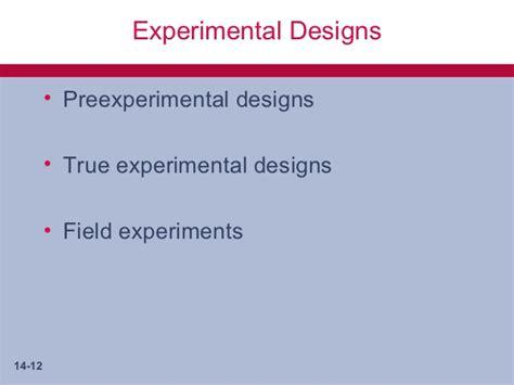 experimental design covariance matrix business research methods chap014