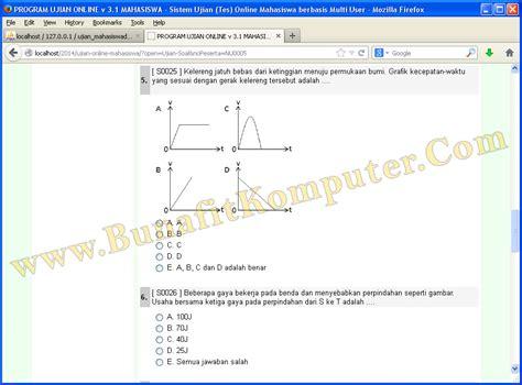membuat web ujian online website ujian online soal ujian ditilkan dalam soal
