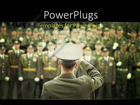 powerpoint templates free military powerpoint template lots of military officials in on a