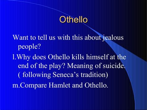 common themes in hamlet and othello shakespeare