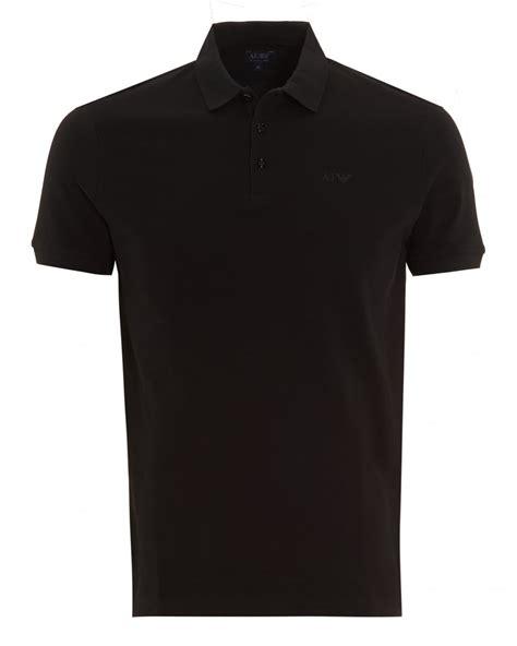 Plain Sleeve Polo Shirt armani mens polo shirt plain black sleeve polo