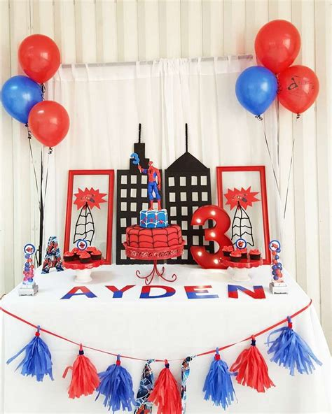 birthday themes spiderman spiderman birthday party ideas amazing spiderman