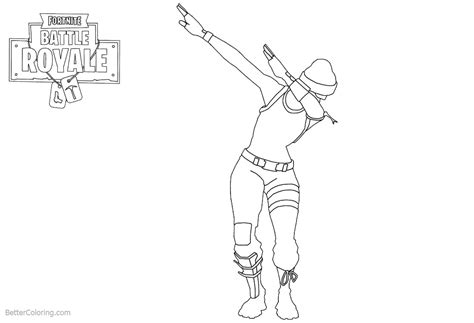 Coloring Page Fortnite by Dab From Fortnite Coloring Pages Free Printable Coloring