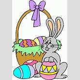 bunny_&_easter_basket clipart - bunny_&_easter_basket clip art