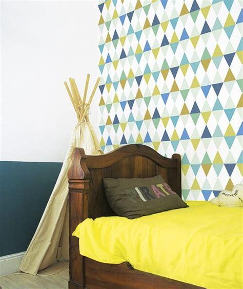 Tapisserie Garcon by Papier Peint G 233 Om 233 Trique Multicolore Gar 231 On Chambre