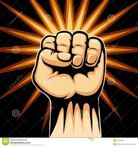 design revolution background raised fist symbol stock vector image 46334581