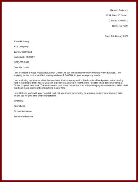 doc 500708 simple cover letter cover letter exles