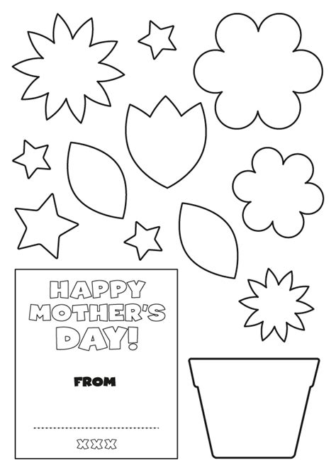 early play templates mother s day card templates