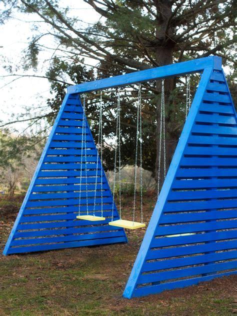 a frame swing set how to build a modern a frame swing set hgtv