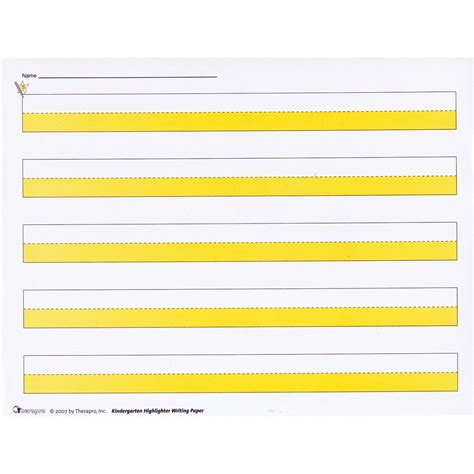 printable writing paper for visually impaired maxiaids kindergarten highlighter writing paper package