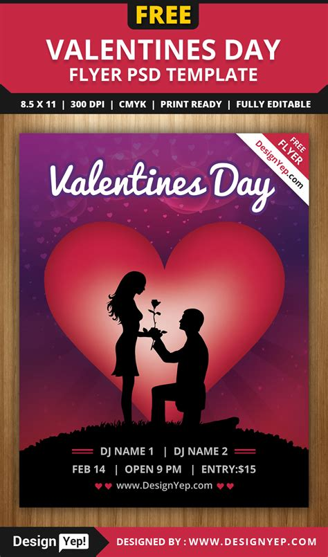 free valentines day flyer templates free valentines day flyer psd template designyep