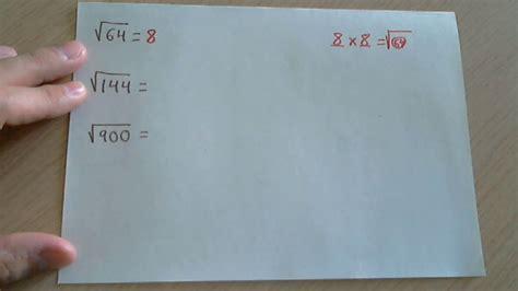 resolver raices cuadradas resolver ra 237 ces cuadradas f 225 ciles youtube