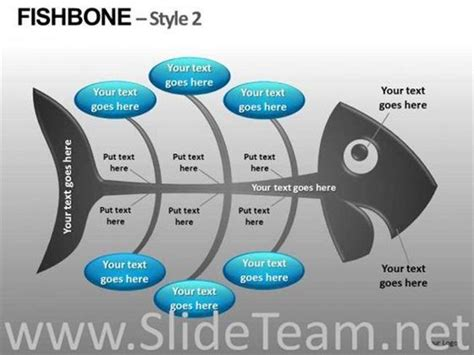 Editable Fishbone Diagrams Ppt Slides Powerpoint Diagram Fishbone Template Powerpoint