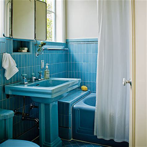 Blue Bathroom Fixtures Blue Bathroom Creative Home Preservation Sunset