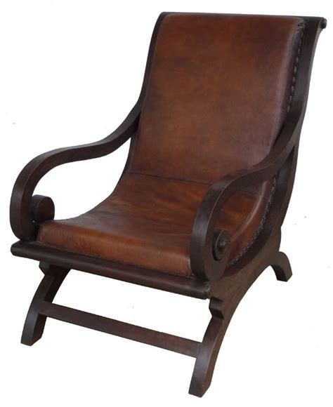 Wood Leather Chair by Wood And Leather Arm Chair