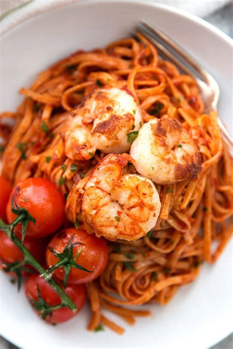 tomato pasta recipe garlic butter shrimp pasta with tomato sauce