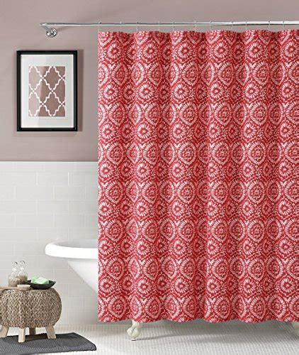 red and white geometric curtains red white ikat floral geometric 100 cotton fabric shower