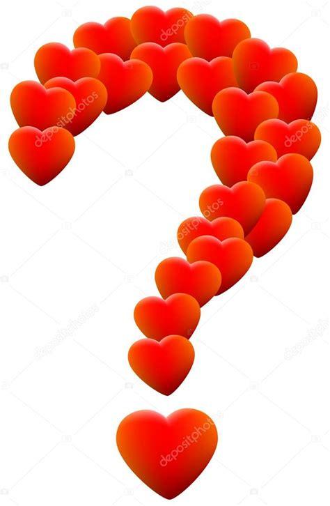 Or Lover S Question Liefde Hart Vraagteken Stockvector 54052233