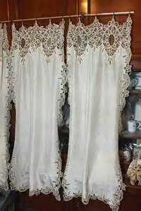 rideaux coton et dentelle
