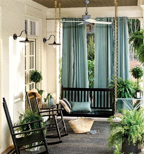 Curtains On Patio Best 25 Front Porch Curtains Ideas On Pinterest Front Porches Screened Porch Curtains And Porch