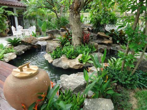 Thai Garden by Tropical Thailand Waterfall Garden Tropical Landscape Other Metro By Thai Garden Design
