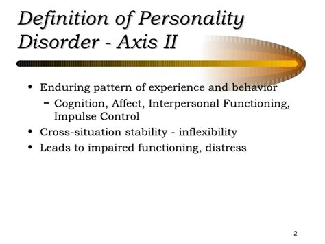 enduring pattern meaning personality disorders