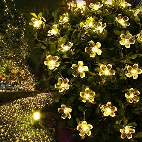30x warm white home or garden party lights decorative led le 194 174 solar flower fairy string lights 50 leds 16 5ft