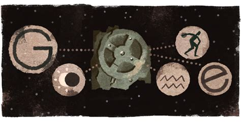 doodle mechanism 115th anniversary of the antikythera mechanism s discovery