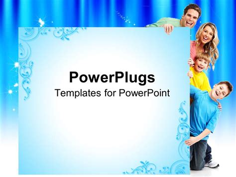 Powerpoint Template Smiling Family Of Four Two Sons And Parents Father And Mother 15679 Powerpoint Templates Family
