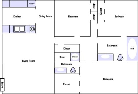 3 bedroom 2 bathroom 3 bedroom 2 bathroom apartment floor plan image bathroom