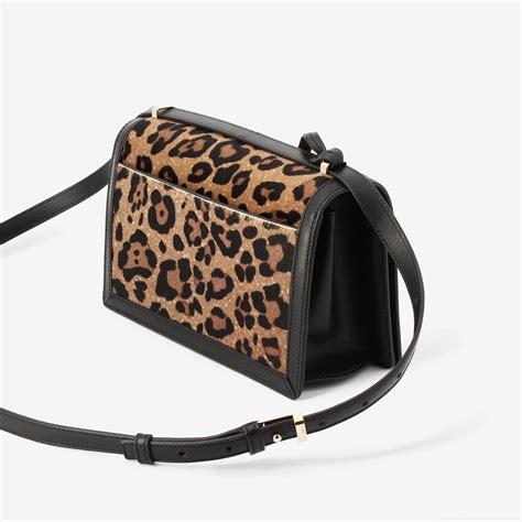 Leopard Print Shoulder Bag lyst loewe leopard print shoulder bag in brown