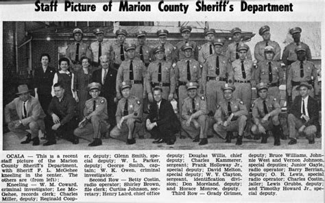 Marion County Florida Court Records Florida Memory Sheriff S Department Marion County Florida