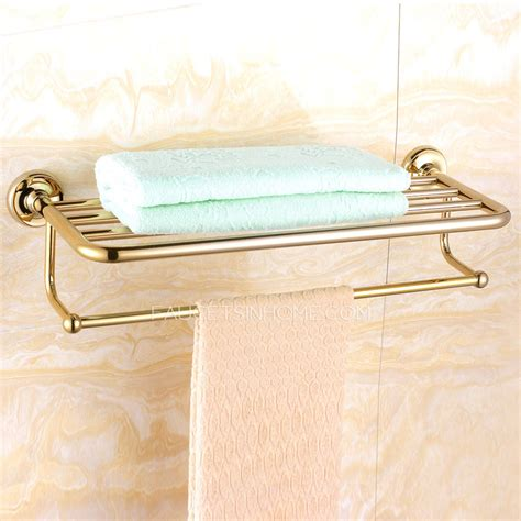 bathroom towel shelves wall mounted luxury brass bathroom towel shelves wall mounted