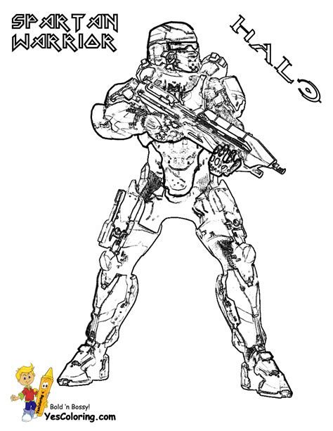 free coloring pages of spartans halo