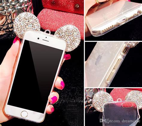 for iphone 7 luxury 3d glitter bling mickey mouse