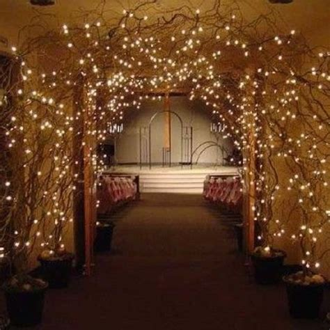 diy wedding trellis with lights twig lighted arch