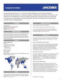 Company Fact Sheet by Company Fact Sheet