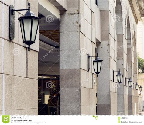 old fashioned wall ls outdoor street light wall l road lighting stock image