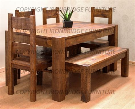 dining room table with bench and chairs rustic dining tables with benches roselawnlutheran