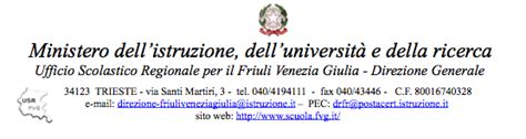 ufficio scolastico regionale per il friuli venezia giulia l ufficio scolastico regionale per il friuli venezia